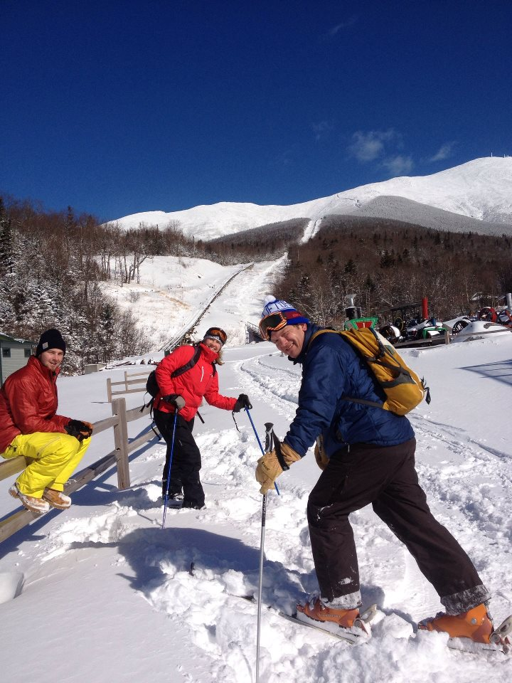 Skinning and skiing Mt. Washington in 2012
